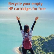 Recycle your empty  HP cartridges for free
